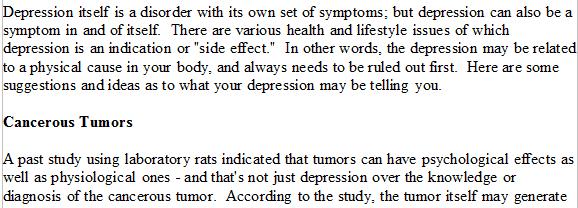 depression article excerpt