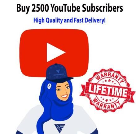 Buy 2500 YouTube Subscribers