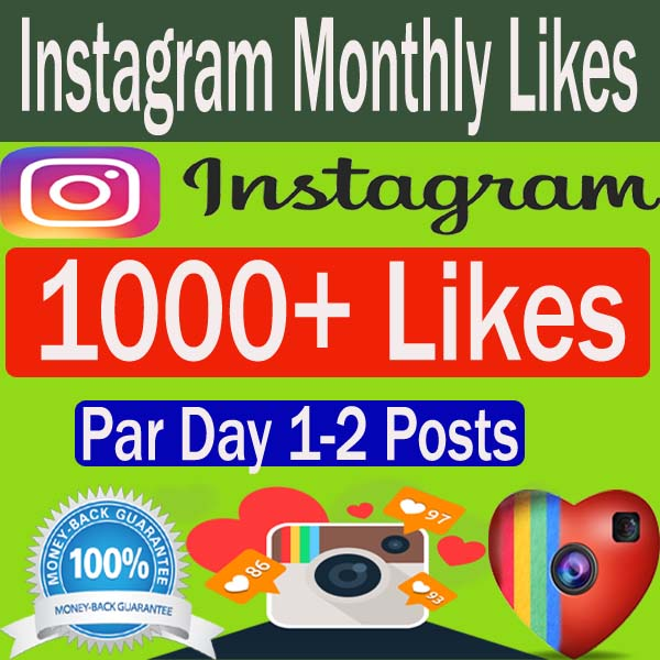 Buy Automatic Instagram Likes Monthly Packages - BUYHQLIKES