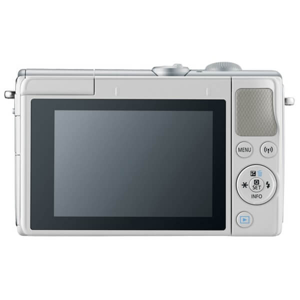 Canon EOS M100 White Rear View, Canon EOS M100 White Colour Offers, Canon EOS M100 White Color Availability