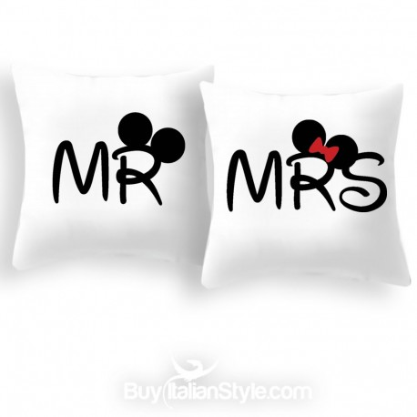 pillow case mr and mrs for pillows 35x35 cm
