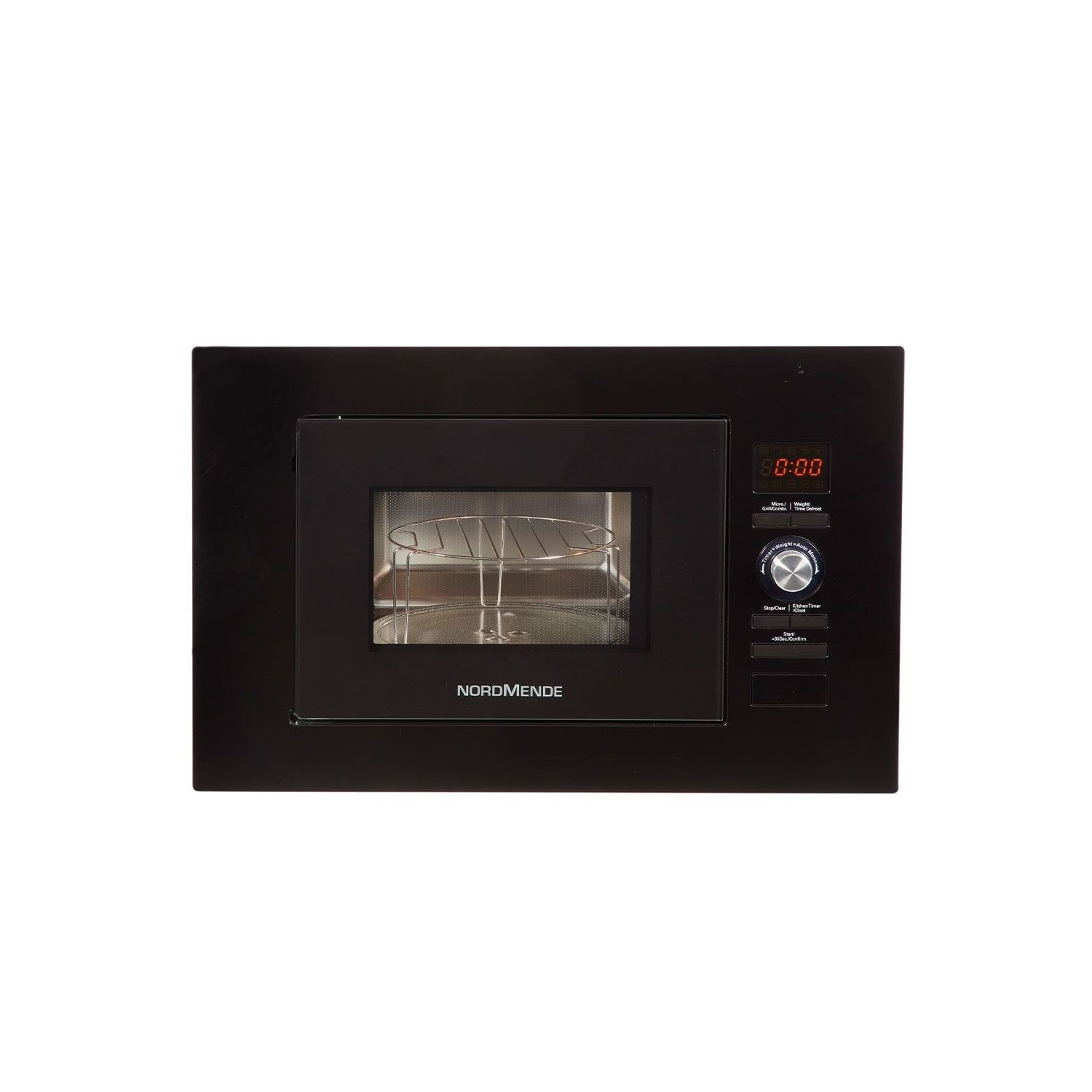 nordmende nm824bbl 800w 20l built in microwave oven gloss black