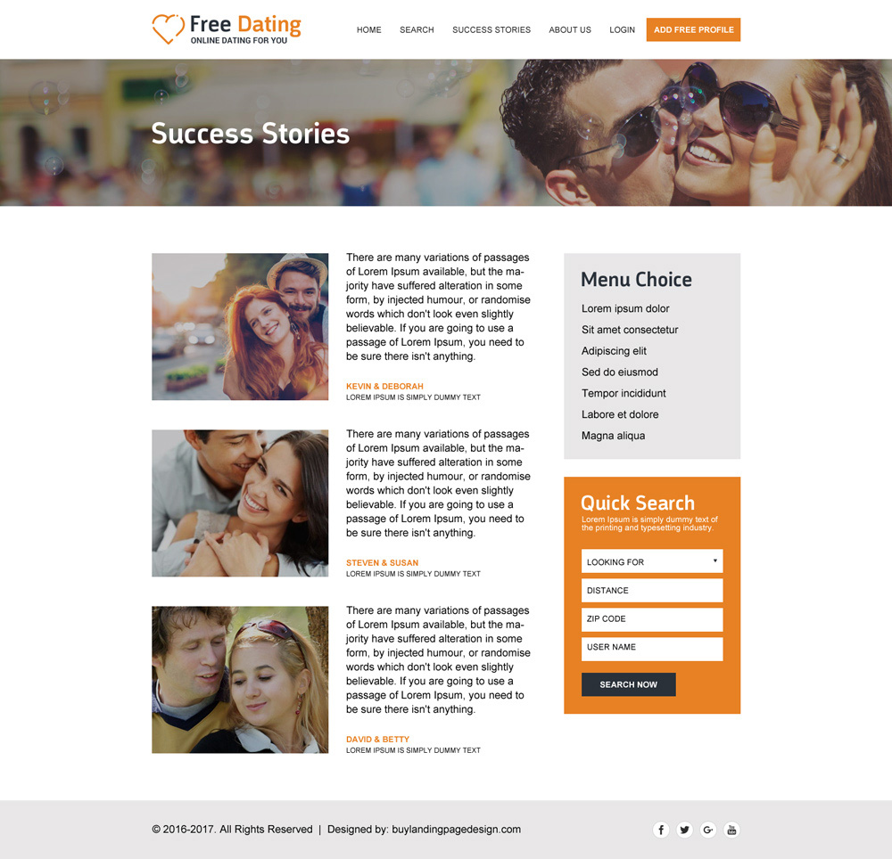 Online-Dating-Website Design