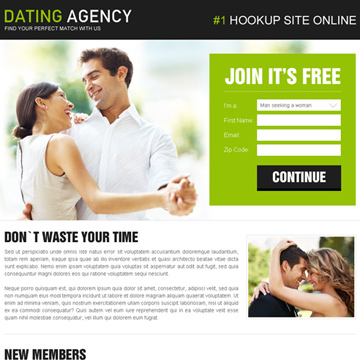High converting dating landing page design that converts