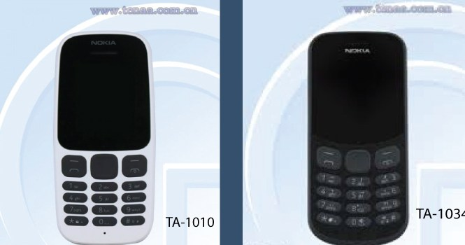 Nokia New Feature Phone TA-1010 and TA-1034