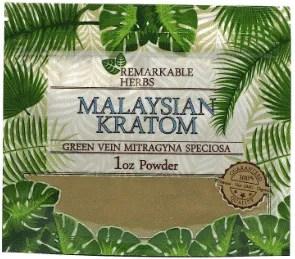 Remarkable Herbs Malaysian Kratom 1oz