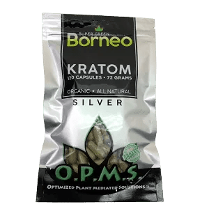 opms silver kratom super green borneo