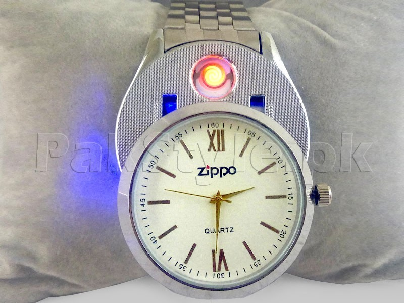 USB Flameless Cigarette Lighter Watch in Pakistan