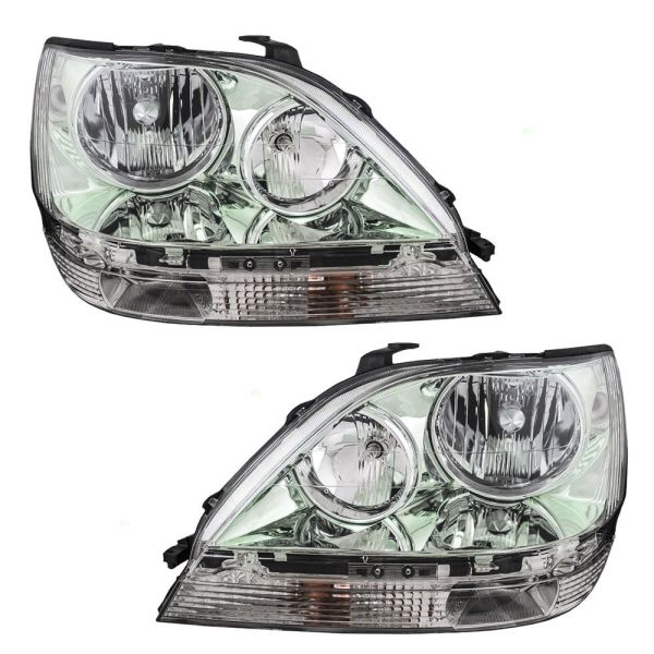 Coachmen Cross Country SportsCoach Chrome Headlights Assembly Pair (Left & Right)