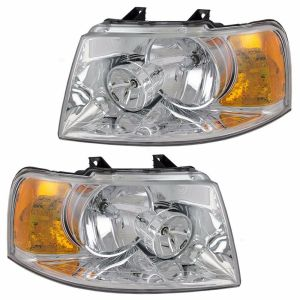 Holiday Rambler Ambassador Headlight Head Lamp Assembly Pair (Left & Right)