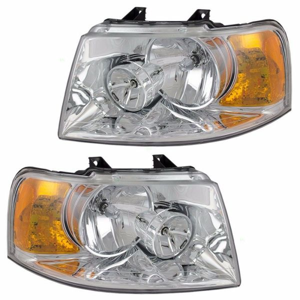 National RV Dolphin Headlight Head Lamp Assembly Pair (Left & Right)