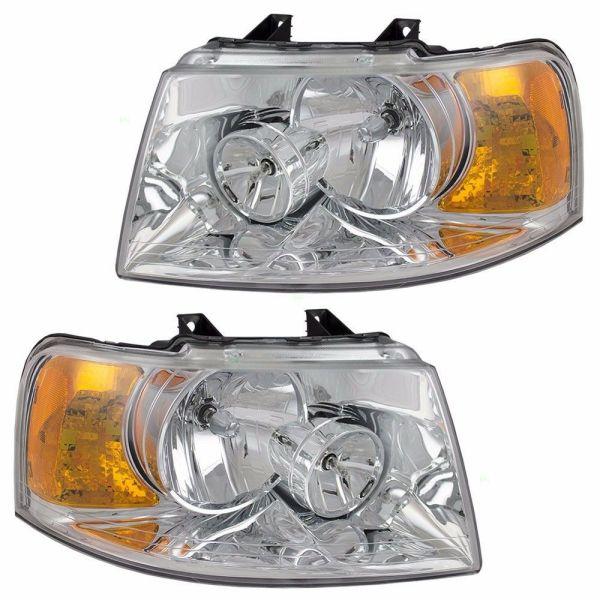 Holiday Rambler Vacationer Headlight Head Lamp Assembly Pair (Left & Right)