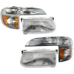 Airstream Skydeck Replacement Headlights & Signal Lamps 4 Piece Set (Left & Right)