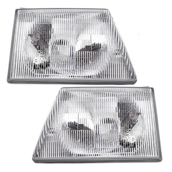 Winnebago Chalet (Class C) Replacement Headlight Assembly Pair (Left & Right)