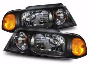 Monaco Windsor Black Headlight Units Pair (Left & Right)