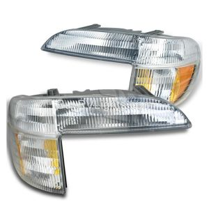 Airstream Land Yacht Corner Turn Signal Lamps Unit Pair (Left & Right)