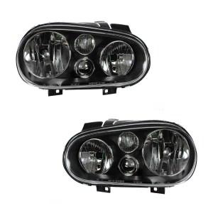 Coachmen Rendezvous Performance Black Headlights Pair (Left & Right)