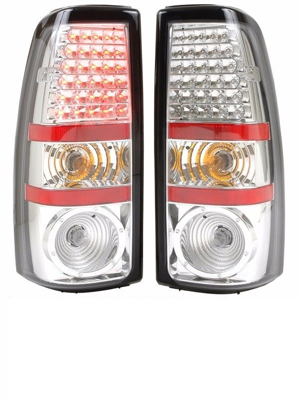Tiffin Zephyr Chrome LED Lower Tail Light Assembly Pair (Left & Right)