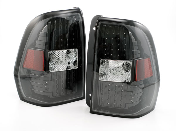 Newmar King Aire Upper Black LED Tail Light Assembly Pair (Left & Right)