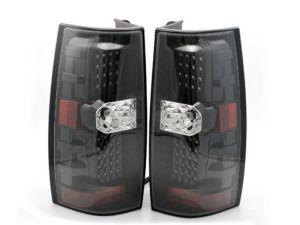 Winnebago Tour Black LED Upper Taillights Assembly Pair (Left & Right)