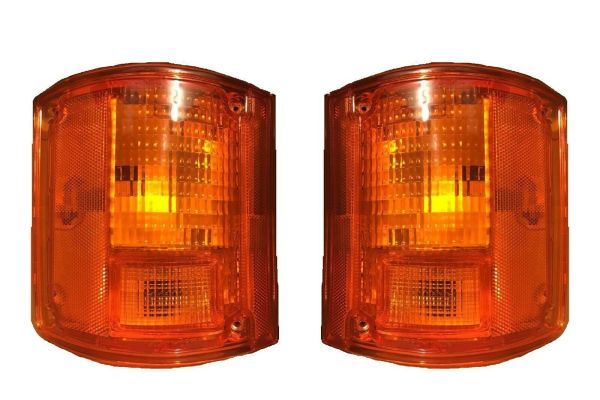 Holiday Rambler Admiral Replacement Rear Turn Signal Light Lens & Housing Pair (Left & Right)
