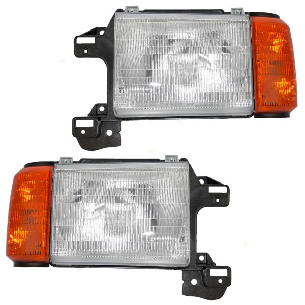 Country Coach Sedona Replacement Headlight & Corner Light Assembly Pair (Left & Right)