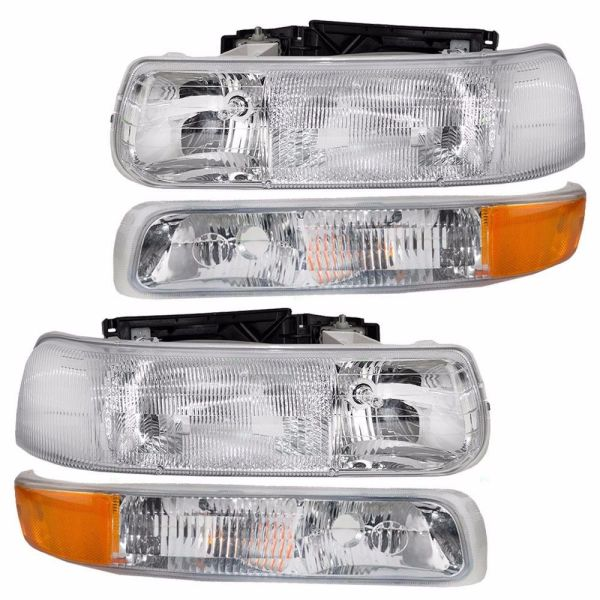 Foretravel U320 Replacement Headlights & Turn Signal Lamps Assembly Pair (Left & Right)