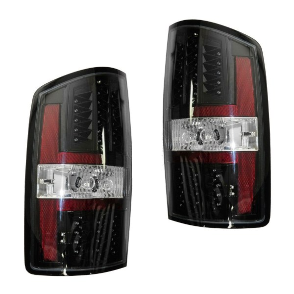 Newmar Ventana Black LED Tail Lights Rear Lamps Assembly Pair (Left & Right)