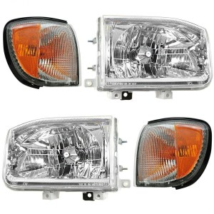 Monaco Monarch Replacement Headlights & Corner Turn Signal Lamps Assembly 4 Piece Set(Left & Right)
