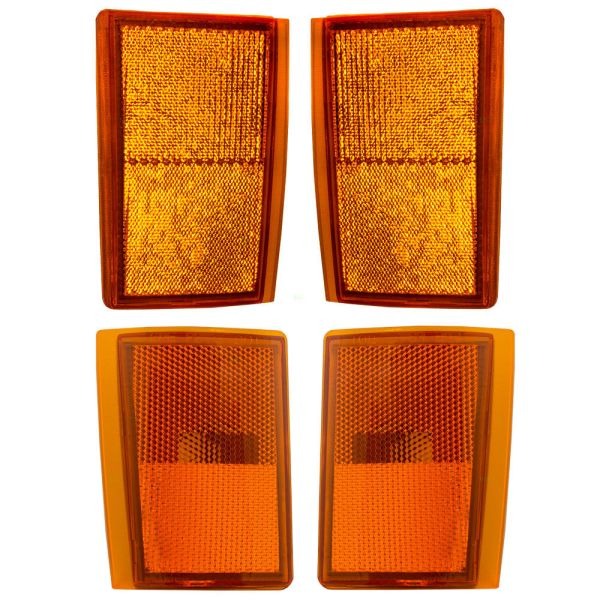 Tiffin Allegro Bay Upper & Lower Side Marker Lamp Unit 4 Piece Set (Left & Right)