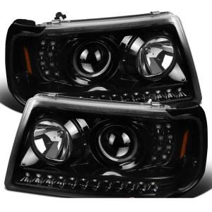 Itasca Sunrise Black Projector LED Headlights & Corner Turn Signal Light Assembly Set (Left & Right)