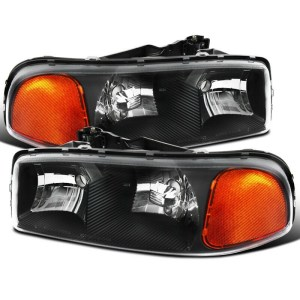 Country Coach Affinity Black Projector Headlights Assembly Pair (Left & Right)