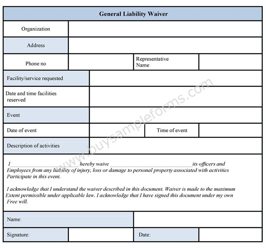 Waiver Template pin general liability release form template on – General Liability Release Form