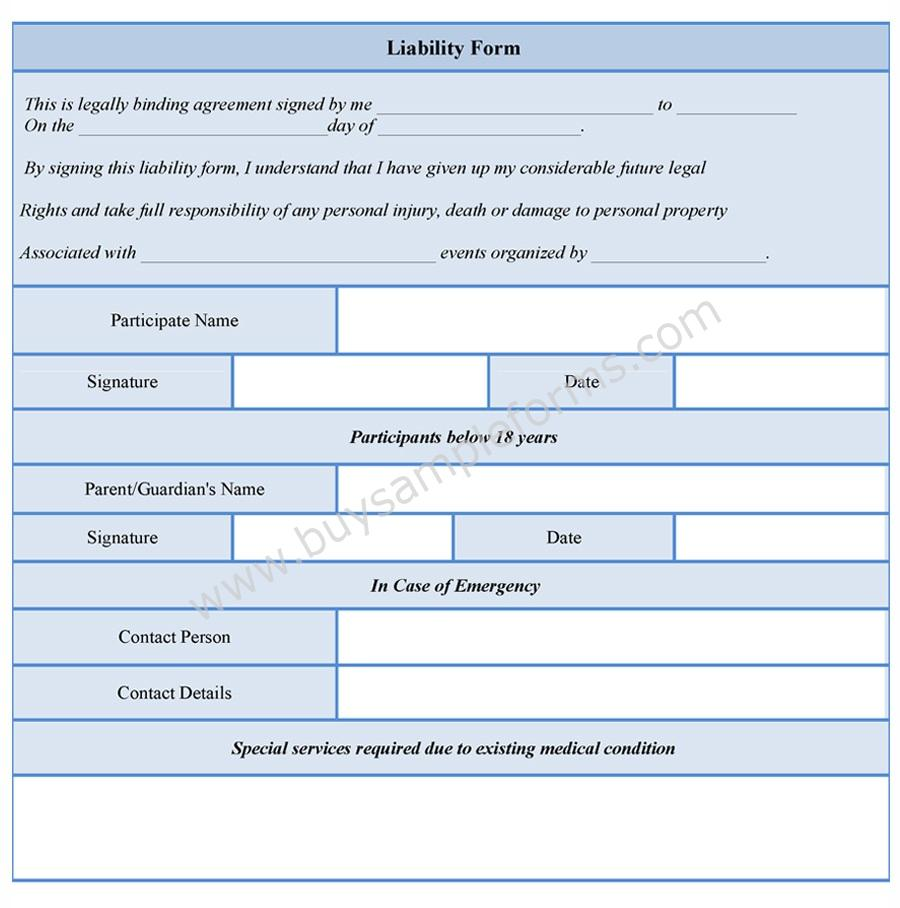 Waiver Template Free release of liability create a free liability – Free Release of Liability Form