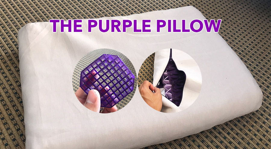 a review of the purple pillow after a