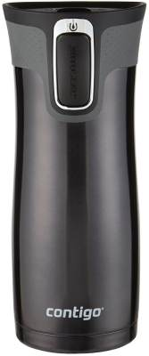 Contigo Autoseal West Loop Stainless Steel Travel Mug with Easy Clean Lid, 16-Ounce, Black