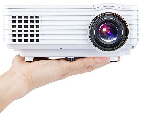 DBPOWER Portable Multimedia Mini LED Projector with USB VGA HDMI AV for Party,Home Entertainment,20000 Hours Led life with Remote