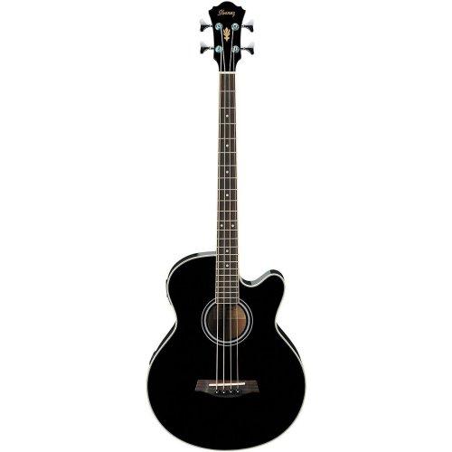 Ibanez AEB5EBK Acoustic Electric Bass Guitar, Black