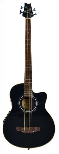 Cutaway Black Acoustic Electric Base 4 String Bass with 4 EQ & DirectlyCheap(TM) Translucent Blue Medium Guitar Pick