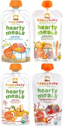 Happy Baby Organic Baby Food Stage 3 Hearty Meals Variety Pack