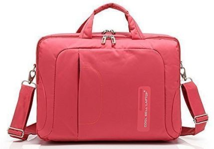 QANSI Waterproof Shockproof Bag PC Laptop/Notebook/Tablets/MacBook Briefcase Case Messenger Bag Pouch Holder Organizers 15-15.6 Inch For Women Men, Red