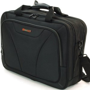 "Alpine Swiss Cortland 15.6"" Laptop Bag Organizer Briefcase Black"