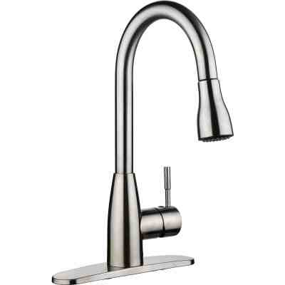 1-hole or 3-holes Plastic Pull-down Kitchen Sink Faucet