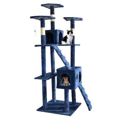 Cat Tree Scratcher Play House Condo Furniture Bed Post Pet House