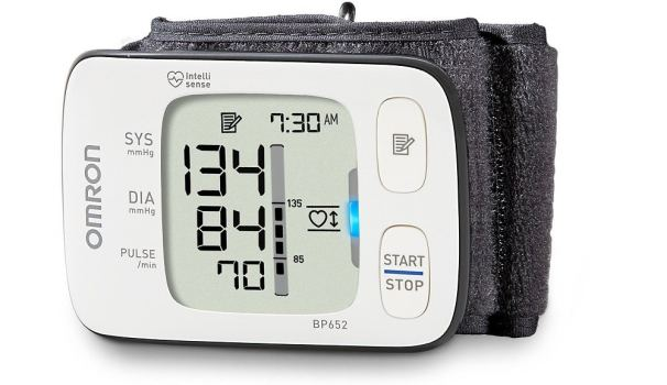 Omron BP652N 7 Series Wrist Blood Pressure Monitor with Heart Zone Guidance and Irregular Heartbeat Detector