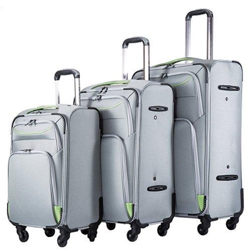 Coolife Luggage Softshell Suitcase