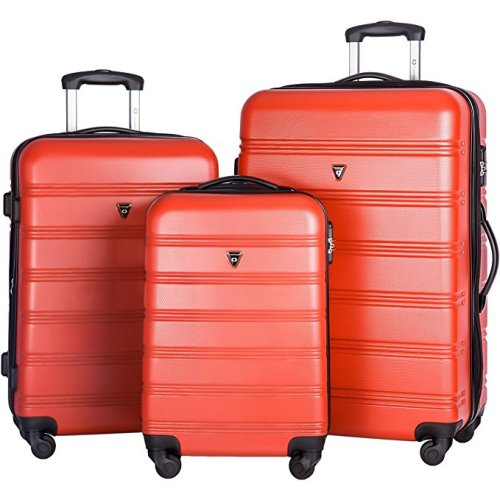 Merax Travelhouse Expandable Luggage Set 3 Piece Light Spinner Suitcase