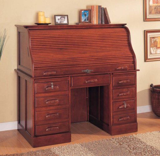 Roll Top Home Office Computer Desk