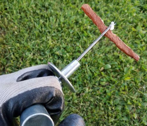 Tire repair on truck tire, Metal tire plug kit