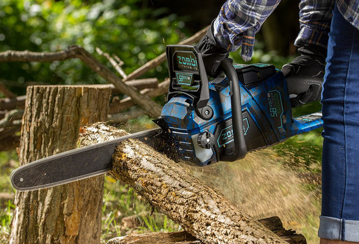 Best battery powered chainsaw for cutting tree branches image